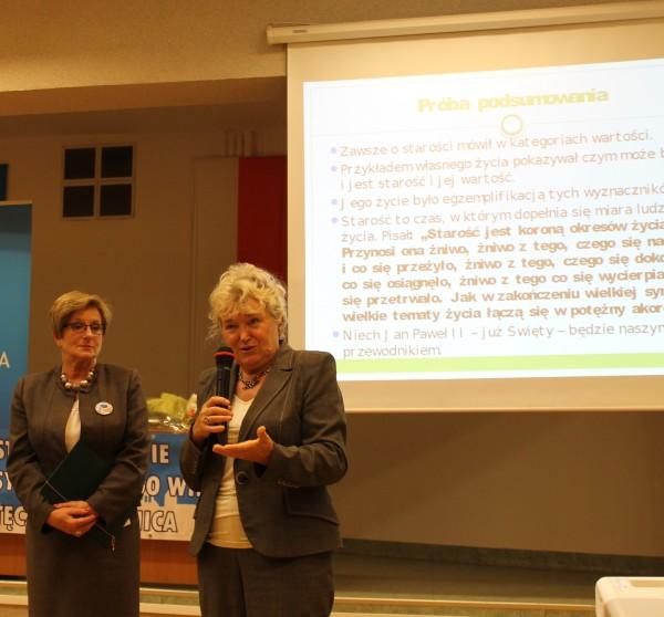 Pani Walentyna Wnuk i Pani Irena Kahalik