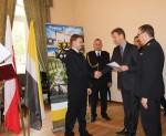 Wręczenie odznaczeń i awansów dla pracowników Komendy Powiatowej Państwowej Straży Pożarnej w Trzebnicy
