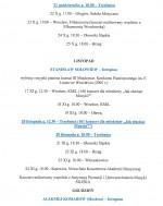Koncerty Lisztowskie - Harmonogram na 2014r.
