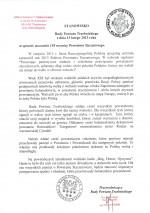 Stanowisko Rady Powiatu Trzebnickiego