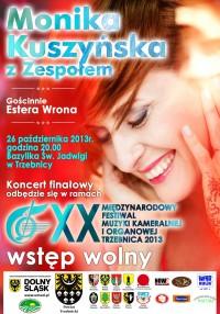 Monika Kuszyńska wystąpi podczas Finałowego Koncertu Festiwalu Muzyki Kameralnej i Organowej