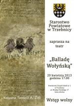 Starostwo Powiatowe w Trzebnicy zaprasza na Balladę Wołyńską