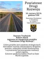 Powiatowe Drogi Rozwoju - inauguracja projektu